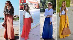 Saia Longa Colorida_Maxi Skirt