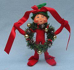 "Item 501410. Annalee 9"" Wannabe a Wreath Elf."