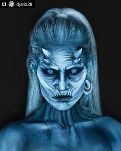 Weißes Walker SFX Make-up - Christmas Deesserts Amazing Halloween Makeup, Halloween Kostüm, Halloween Coloring, Halloween Face Makeup, Special Makeup, Special Effects Makeup, White Walker Makeup, White Walker Costume, Sfx Make-up