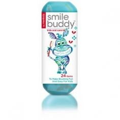 Smile Buddy- Kids Oral Care Kit Out Of Stock  Kids oral care kit to make brushing fun and easy for kids ... includes: toothbrush, crest toothpaste with fluoride, dental floss, brushing timer , fun stickers and carrying case.