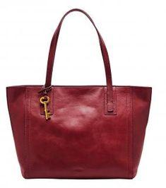 !!!Fossil Shoppertasche Emma Tote Leder Cavernet Rot Fossil Bags, Tote Bag, Carry Bag, Tote Bags, Fossil Purses
