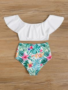Trendy Bikinis, Bikinis For Teens, Kids Swimwear, Summer Bathing Suits, Cute Bathing Suits, Ropa Interior Babydoll, Justice Clothing, Kids Suits, Cute Swimsuits