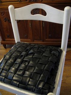 bike tire chair seat by my friend Carolyn!
