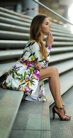 Floral dress.