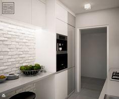 Biele i szarości w kuchni - zdjęcie od Kwadrat Design Studio - Kuchnia - Styl Nowoczesny - Kwadrat Design Studio