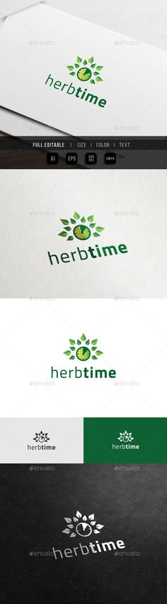 Herbal Time Health Life - Logo Design Template Vector #logotype Download it here: http://graphicriver.net/item/herbal-time-health-life-logo/12598060?s_rank=551?ref=nexion