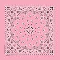 "Strawberry Pink Paisley 22"" Bandanas Made in USA -  Twistedpeace.us"