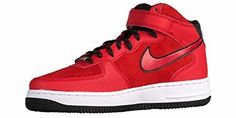 Nike Womens Air Force 1 07 Mid Suede RedBlackWhite 807448600 Size 10 >>> Visit the image link more details. Adidas Basketball Shoes, Sports Shoes, Best Trail Running Shoes, Road Running, Nike Shoes, Sneakers Nike, Women's Shoes, Running Women, Sneakers Fashion