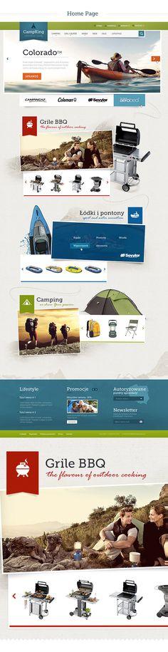 CampKing - enjoy your weekend! by Michał Młodożeniec, via Behance