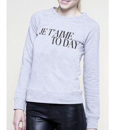 """Crew neck """"Je T´Aime""""  #foyparis #fameonyouparis #women #crewneck  #paris"""