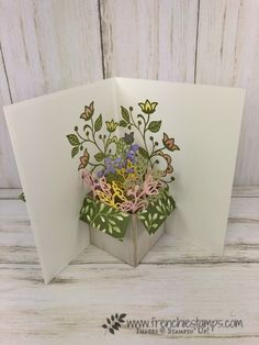 Pop Up Flower Box - Frenchie StampsYou can find Flower cards and more on our website.Pop Up Flower Box - Frenchie Stamps Pop Up Flower Cards, Pop Up Box Cards, Flower Boxes, Gift Flowers, Pop Up Flowers, Pop Up Greeting Cards, Fun Fold Cards, 3d Cards, Folded Cards
