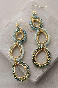 Anthropologie - Beaded Lochan Earrings