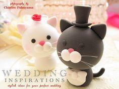 LOVE ANGELS Wedding Cake Topper-love cat,love kitty -$100.00