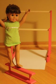 Doll Gymnastics Accessories Fits American Girl Doll by RobsRustics, $69.99