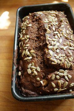 Seedy Cocoa-Cranberry Banana Bread