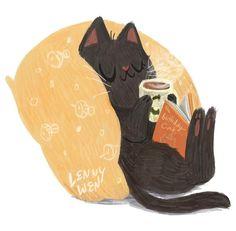 Cat Drawing, Cute Illustration, Crazy Cats, Cat Art, Cute Cats, Cat Lovers, Character Design, Cute Animals, Artsy