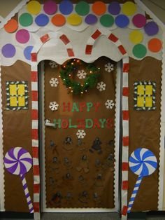 gingerbread house door decorating contest - Google Search
