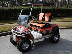 Old Harley Davidson Golf Cart