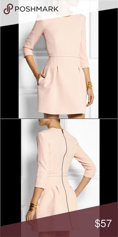 Maje Pink Wendal Stretch-Crepe Mini Dress Never worn! Maje dress in excellent condition! In size 1.  Same as US size S. Maje Dresses Mini
