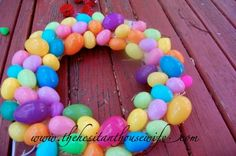 DIY Easter Egg wreath tutorial (a hilarious post, too!)
