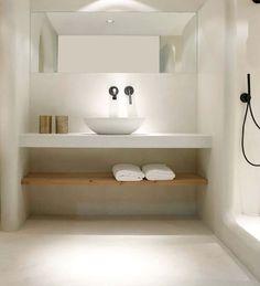Apartment: A Stylish Apartment Designed with Black-White.- Apartment: A Stylish Apartment Designed with Black-White and Modern Interior Stylish Modern Bathroom Design 65 - Bad Inspiration, Bathroom Inspiration, Bathroom Ideas, Bathroom Taps, White Bathroom, Remodel Bathroom, Bathroom Furniture, Bathroom Cabinets, Budget Bathroom