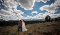 Rocky Mountain National Park Wedding Bride and Groom Kissing