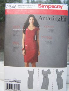 Simplicity 2648 Women's  Pattern  Misses' Dress by WitsEndDesign