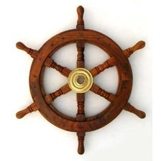 I have a giant red wheel of my grandfather's boat :)