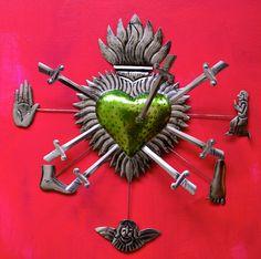 Miracle heart (sacred heart) - Mexico folk arts