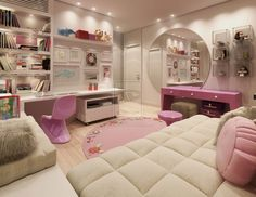 bedrooms girly white - Google Search