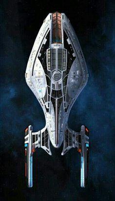 The Pathfinder - The Pathfinder - Star Trek Fleet, Star Trek Ships, Spaceship Art, Spaceship Design, Star Trek Online, Starfleet Ships, Pintura Exterior, Starship Concept, Sci Fi Ships