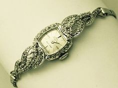 'Diamond & Gold Ladies Cocktail Watch' - For more cocktail watches, view our full collection at http://www.acsilver.co.uk/shop/pc/Cocktail-Watches-c271.htm