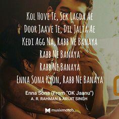 My fav lyrics from this song😍 Love Song Quotes, Song Lyric Quotes, Best Love Quotes, Smile Quotes, Music Lyrics, Movie Quotes, Bollywood Quotes, Bollywood Songs, Filmy Quotes