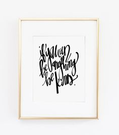 If You Can Be Anything Be Kind Print by PoplarPress on Etsy