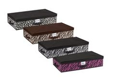 Dorm Room Under bed Storage Box - 4 Animal Prints Available - Dorm Size Underbed Storage Case College Dorm Supplies