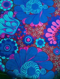 Swedish vintage fabric Göta Trägårdh Folklore by Inspiria on Etsy