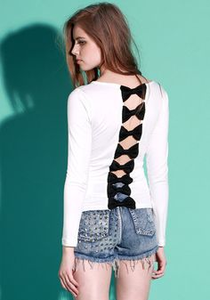 Bow Back Top @LookBookStore