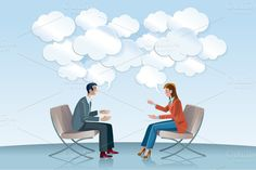 Check out Communication with Speech Balloons by ÁRTICA on Creative Market