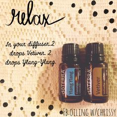 use doTERRA essential oils for restful sleep! Vetiver and Ylang Ylang are the perfect mix!