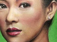 Drawing Zhang Ziyi 章子怡 with colored pencils