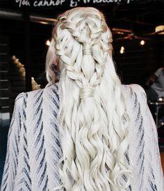 Game of Thrones Daenerys Targaryen (Khaleesi) Hair Tutorial!  (See more on the beauty blog)