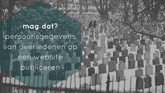 online-begraafplaatsen.nl heeft een database met overleden personen en waar zij begraven liggen. Daar staan foto's van de grafstenen bij. Mag dat wel?