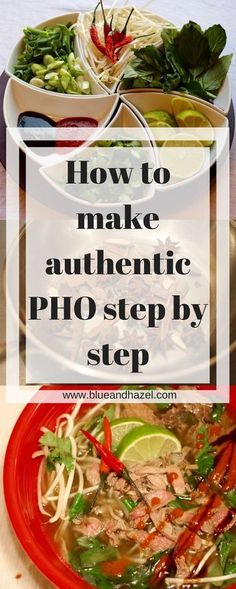 is a traditional Pho recipe that you can make at home. It tastes authentic like a restaurant and I have step by step photos, including how to make Pho broth. Vietnamese Recipes, Asian Recipes, Beef Recipes, Soup Recipes, Cooking Recipes, Healthy Recipes, Ethnic Recipes, Vietnamese Pho Soup Recipe, Vietnamese Food