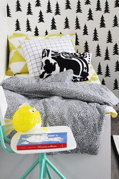 Love this children's bedroom by Naku at Bambula Big Girl Rooms, Boy Room, Monster Room, Baby Boys, Kids Bed Linen, Pattern And Decoration, Childrens Beds, Kid Spaces, Kidsroom
