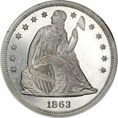 US Seated Dollar Pattern Dollar Coin