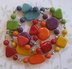 Kazuri bead necklace at etsy