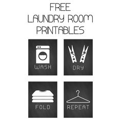 Laundry Art Prints - could easily diy these in custom sizes.