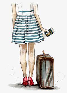 Vk cute illustration, travel illustration, croquis, travel drawing, image v Illustration Mode, Travel Illustration, Illustrations, Deco Time, Travel Clipart, Buch Design, Travel Drawing, Fashion Art, Girly