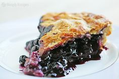 Blueberry Pie ~ Simple, classic blueberry pie recipe, perfect for the summer blueberry season. ~ SimplyRecipes.com
