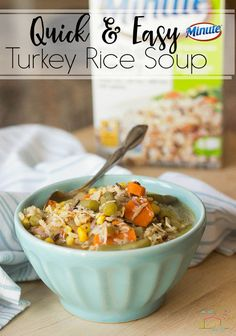 A warm meal on these chilly nights is just what the family ordered! Try this quick and easy Turkey Rice Soup from @lifeovercs, using @MinuteRiceUS Multi-grain Medley Rice, and have dinner on the table in less than 30 minutes. HolidayswithMinute AD http://lifeovercs.com/quick-easy-turkey-rice-soup/